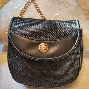 Jaclyn Smith 1979 crossbody bag purse black gold